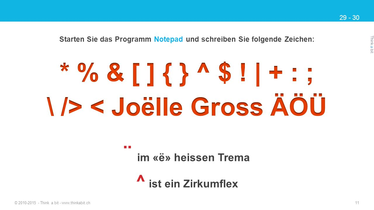 * % & [ ] { } ^ $ ! | + : ; \ /> < Joëlle Gross ÄÖÜ